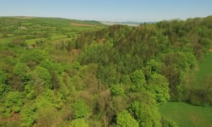 Aerial view over Hillyfield looking towards Dartmoor