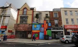 Regeneration on Swansea High Street