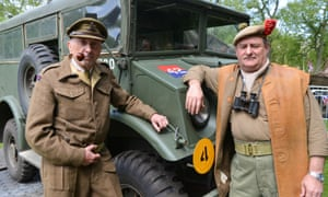 People dressed in 1940s military gear turned out in St James's Park.