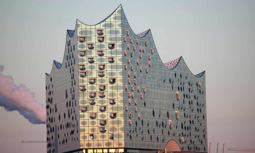 James Blunt livestreamed a free performance from the Elbphilharmonie, in Hamburg, pictured.