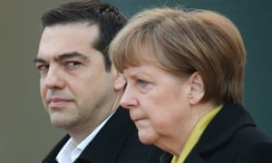 Prime minister Alexis Tsipras meets German chancellor Angela Merkel