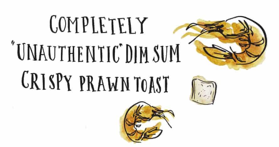 Completely 'unauthentic' dim sum prawn toast title illustration