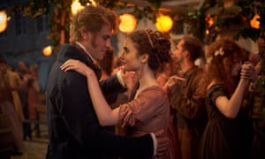 Have alarm bells ever rung louder … Fantine (Lily Collins) with the appalling Felix (Johnny Flynn) in Les Misérables.