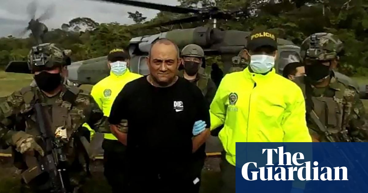 Colombia's most-wanted drug lord, Otoniel, captured by armed forces