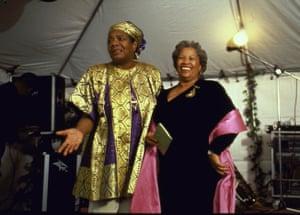 At Maya Angelou's party
