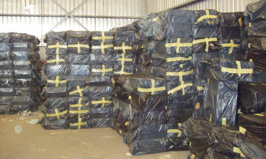 Paul Hopkins says BAT brand cigarettes were hidden in plastic in Somalia after al-Shabaab banned sales.