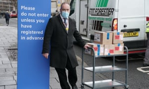Supplies of a Covid-19 vaccine are delivered to a NHS vaccine centre set up at the Centre for Life in Times Square, Newcastle.