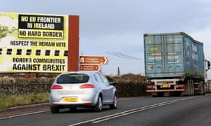 A poster on the border between Newry in Northern Ireland and Dundalk in the Irish Republic.