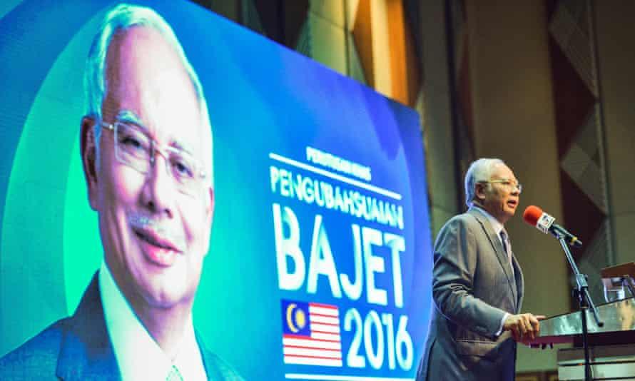 Malaysian prime minister Najib Razak addresses a conference in Putrajaya, Malaysia, on 28 January, 2016.