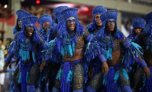 Performers from Beija-Flor samba school