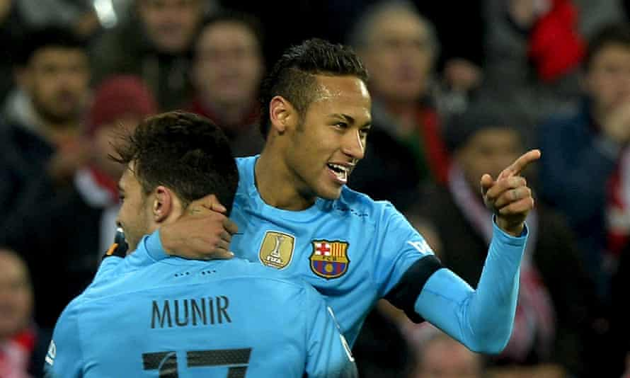 Neymar and Munir el Haddadi