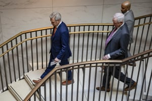 Downward spiral for the Trump administration? House minority leader Kevin McCarthy, left, on Capitol Hill recently.