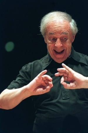 Pierre Boulez: Working with Paris's Academie De Musique in 1999.