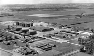 Aerial view of the former Sutton-on-Hull RAF station