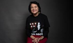 Dolores Huerta poses at the Sundance Film Festival, Utah.
