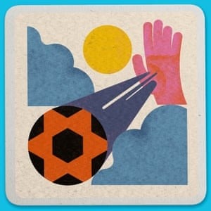 Weird World Cup design by Bratislav Milenkovic shows The 'Hand of God goal', which Maradona scored by using his hand. 22 June 1986, Estadio Azteca, Mexico City.