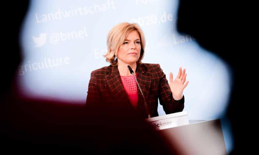 Agriculture minister Julia Klöckner breaks the new