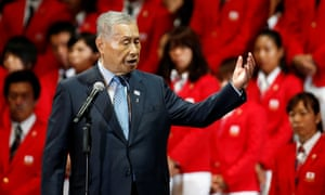 Yoshiro Mori, Japan's former prime minister and president of the Tokyo 2020 organising committee, delivers his speech on Sunday.