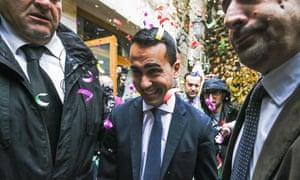 Five Star Movement leader Luigi Di Maio.