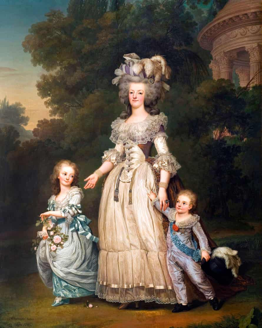 A portrait of Marie Antoinette and two of her children from 1785.