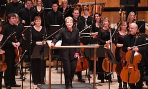 A light and deft touch … Marin Alsop with the BBC Symphony Orchestra.
