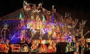 Christmas lights in Melksham