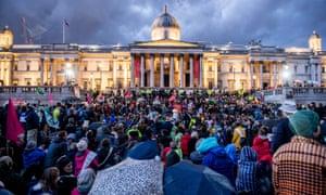 Activists in Trafalgar Square