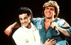 Wham! boys … Andrew Ridgeley and George Michael in 1985.