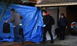 NSW police raid a home in Greenacre, Sydney