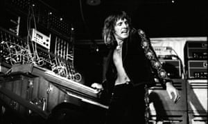 Keith Emerson on stage in ELP's 1970s heyday.