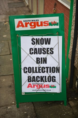 A billboard for the South Wales Argus.