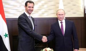 Bashar al-Assad and Vladimir Putin in Sochi