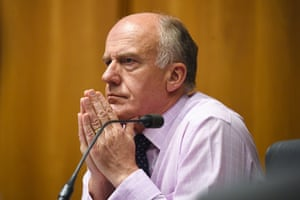 Liberal Senator Eric Abetz at the Senate probe.