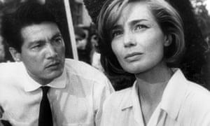 Eiji Okada and Emmanuelle Riva in Alain Resnais' 1959 film Hiroshima, Mon Amour.
