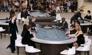 Julianne Moore Kristen Stewart Lily-Rose Depp Chanel casino Paris fashion week