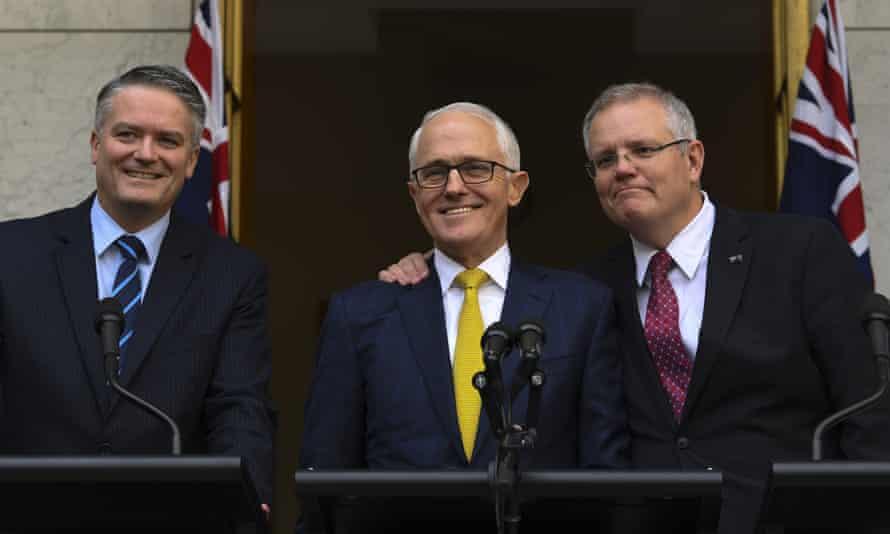 Mathias Cormann, Malcolm Turnbull and Scott Morrison