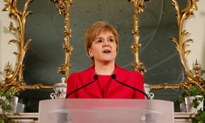 'Witness the vitriol poured on Sturgeon's head for wanting another referendum on independence for Scotland.'