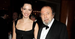 Rebecca with her father, theatre director Peter Hall, in 2010.