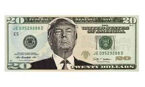 20 twenty dollar dollars bill note bills notesTwenty dollar bill with Donald Trump