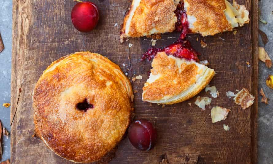 Easy as pie: plum and frangipane pies.