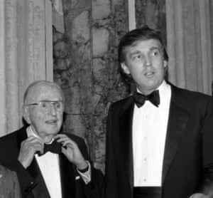 Donald Trump at the 90th birthday celebration of Norman Vincent Peale.
