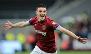 Declan Rice's form for West Ham has earned him a first England call-up.