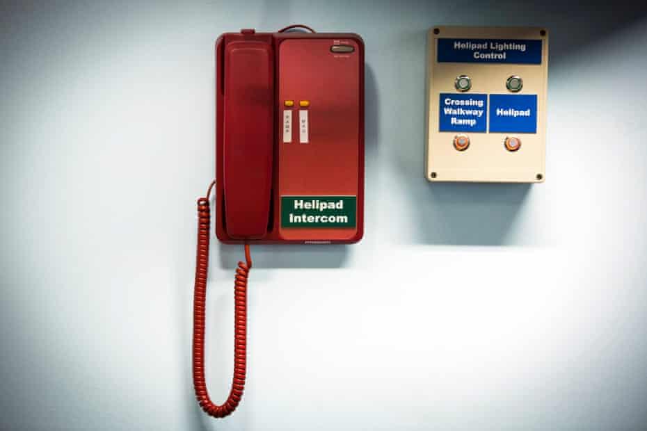 The helipad intercom at St. Mary's Hospital.