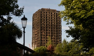 The Grenfell Tower in Kensington after Wednesday's fire.