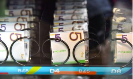 A Brixton pound cash machine.