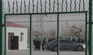 Detainees at camps in Xinjiang.
