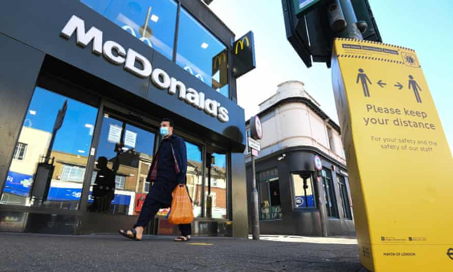 McDonald's has about 1,300 outlets in the UK.