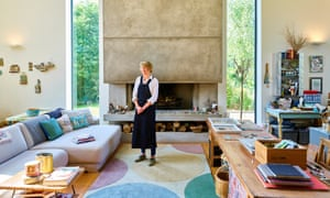 Shirley Vauvelle in her studio with its 20ft-high windows