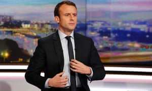 Presidential candidate Emmanuel Macron presents himself as an energetic outsider.