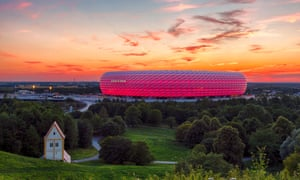 Famous football stadium Allianz Arena in Munich, Bavaria, Germany, EuropeJJT2T1 Famous football stadium Allianz Arena in Munich, Bavaria, Germany, Europe